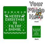 Ugly Christmas Ya Filthy Animal Playing Cards 54 Designs  Back