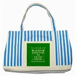 Ugly Christmas Ya Filthy Animal Striped Blue Tote Bag Front