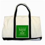 Ugly Christmas Ya Filthy Animal Two Tone Tote Bag Front