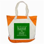 Ugly Christmas Ya Filthy Animal Accent Tote Bag Front