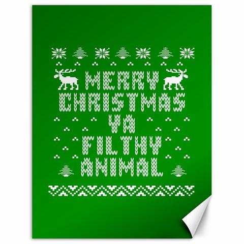 Ugly Christmas Ya Filthy Animal Canvas 18  x 24