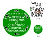 Ugly Christmas Ya Filthy Animal Playing Cards 54 (Round)  Front - SpadeK