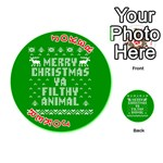 Ugly Christmas Ya Filthy Animal Playing Cards 54 (Round)  Front - Joker2