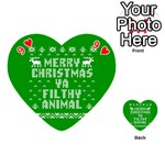 Ugly Christmas Ya Filthy Animal Playing Cards 54 (Heart)  Front - Heart9