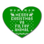 Ugly Christmas Ya Filthy Animal Heart Mousepads Front