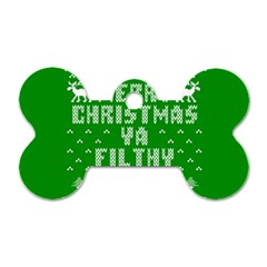Ugly Christmas Ya Filthy Animal Dog Tag Bone (two Sides)