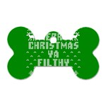 Ugly Christmas Ya Filthy Animal Dog Tag Bone (Two Sides) Front