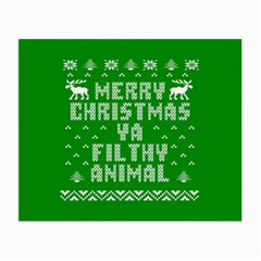 Ugly Christmas Ya Filthy Animal Small Glasses Cloth (2-Side)