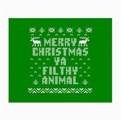 Ugly Christmas Ya Filthy Animal Small Glasses Cloth (2 Side)