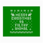 Ugly Christmas Ya Filthy Animal Small Glasses Cloth (2-Side) Back