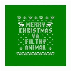 Ugly Christmas Ya Filthy Animal Medium Glasses Cloth