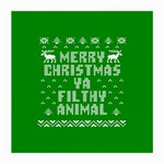 Ugly Christmas Ya Filthy Animal Medium Glasses Cloth Front