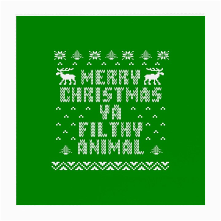 Ugly Christmas Ya Filthy Animal Medium Glasses Cloth (2-Side)