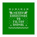 Ugly Christmas Ya Filthy Animal Medium Glasses Cloth (2-Side) Back