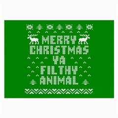 Ugly Christmas Ya Filthy Animal Large Glasses Cloth