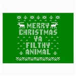 Ugly Christmas Ya Filthy Animal Large Glasses Cloth (2-Side) Front
