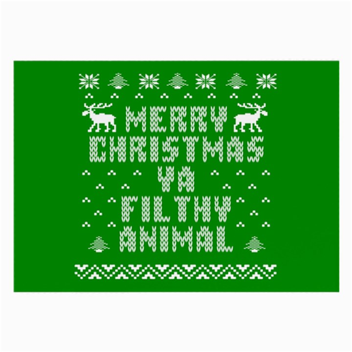 Ugly Christmas Ya Filthy Animal Large Glasses Cloth (2-Side)