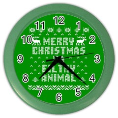 Ugly Christmas Ya Filthy Animal Color Wall Clocks