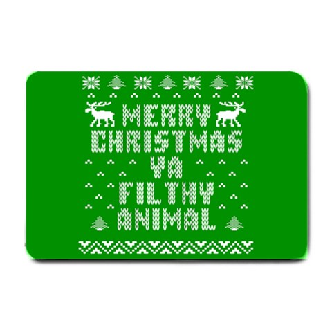 Ugly Christmas Ya Filthy Animal Small Doormat