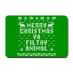 Ugly Christmas Ya Filthy Animal Small Doormat  24 x16 Door Mat - 1