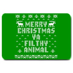 Ugly Christmas Ya Filthy Animal Large Doormat