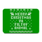 Ugly Christmas Ya Filthy Animal Plate Mats 18 x12 Plate Mat - 1