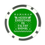 Ugly Christmas Ya Filthy Animal Poker Chip Card Guards Back