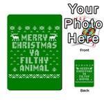 Ugly Christmas Ya Filthy Animal Multi-purpose Cards (Rectangle)  Back 11