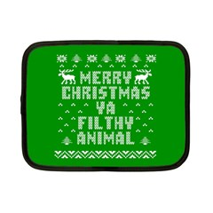 Ugly Christmas Ya Filthy Animal Netbook Case (Small)