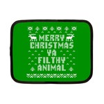 Ugly Christmas Ya Filthy Animal Netbook Case (Small)  Front