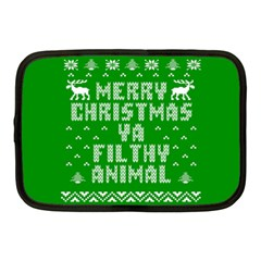 Ugly Christmas Ya Filthy Animal Netbook Case (Medium)