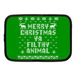 Ugly Christmas Ya Filthy Animal Netbook Case (Medium)  Front