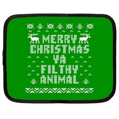 Ugly Christmas Ya Filthy Animal Netbook Case (Large)