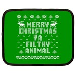 Ugly Christmas Ya Filthy Animal Netbook Case (Large) Front