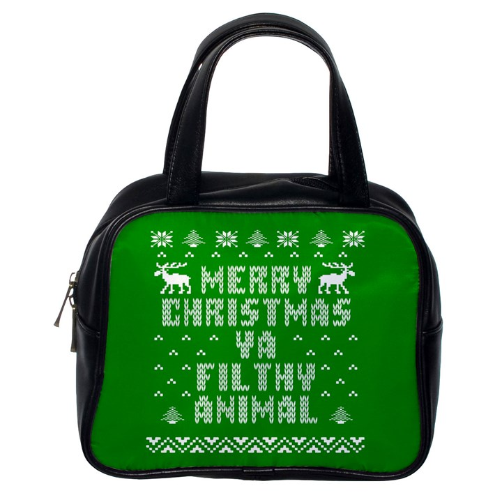 Ugly Christmas Ya Filthy Animal Classic Handbags (One Side)
