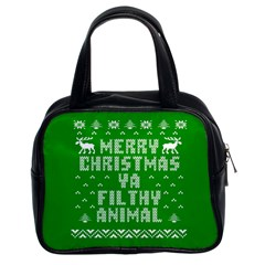 Ugly Christmas Ya Filthy Animal Classic Handbags (2 Sides)