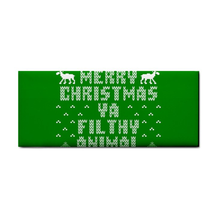 Ugly Christmas Ya Filthy Animal Hand Towel
