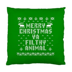 Ugly Christmas Ya Filthy Animal Standard Cushion Case (One Side)