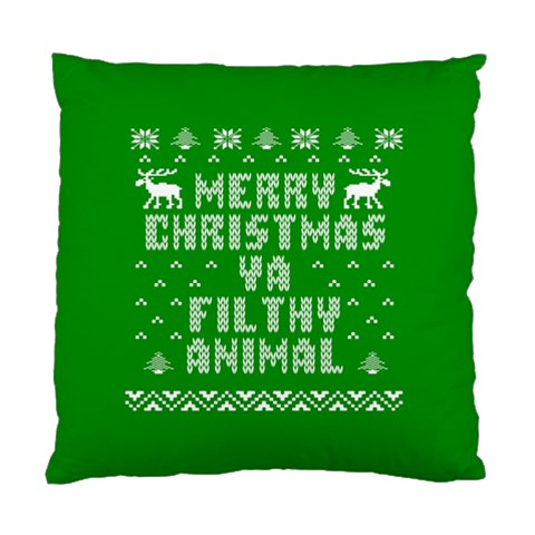 Ugly Christmas Ya Filthy Animal Standard Cushion Case (Two Sides)