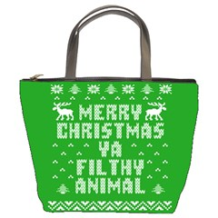 Ugly Christmas Ya Filthy Animal Bucket Bags