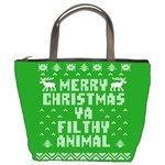 Ugly Christmas Ya Filthy Animal Bucket Bags Front
