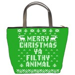 Ugly Christmas Ya Filthy Animal Bucket Bags Back