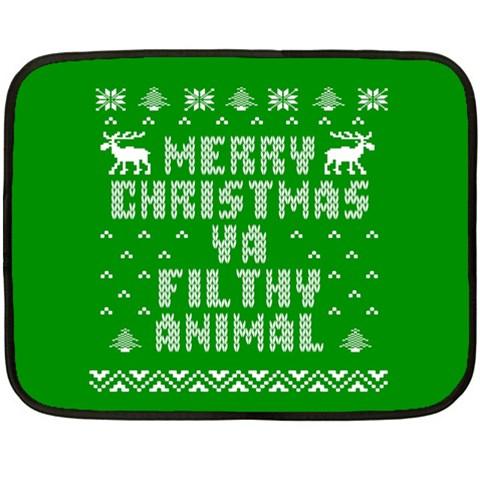 Ugly Christmas Ya Filthy Animal Fleece Blanket (Mini)