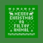 Ugly Christmas Ya Filthy Animal Mini Canvas 6  x 6  6  x 6  x 0.875  Stretched Canvas