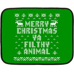 Ugly Christmas Ya Filthy Animal Double Sided Fleece Blanket (Mini)