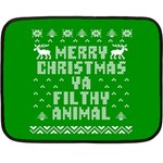 Ugly Christmas Ya Filthy Animal Double Sided Fleece Blanket (Mini)  35 x27 Blanket Back