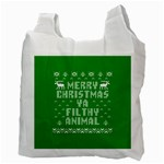 Ugly Christmas Ya Filthy Animal Recycle Bag (Two Side)  Back