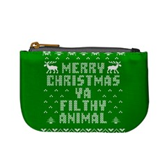 Ugly Christmas Ya Filthy Animal Mini Coin Purses