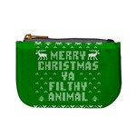 Ugly Christmas Ya Filthy Animal Mini Coin Purses Front