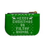 Ugly Christmas Ya Filthy Animal Mini Coin Purses Back